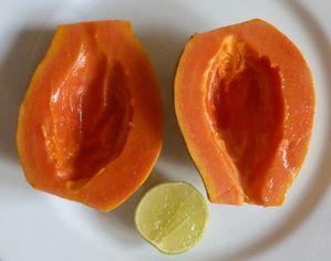 Papaye et citron vert