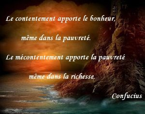 le contentement Confucius
