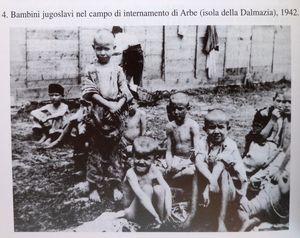 bambini jugoslavi in campo di internamento fascista di Arbe
