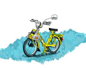 4600 sketch lrg VeloSolex by PowFlip