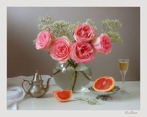roses dans bocal