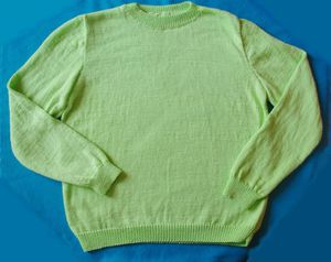 pull homme vert coton