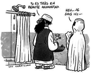 g 3 caricature burka Co Luc Cornillon