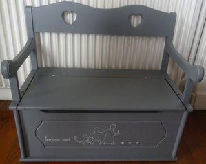 coffre jouets gris bonne nuit. Black Bedroom Furniture Sets. Home Design Ideas