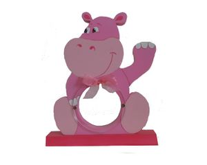 hippo rose socle rose