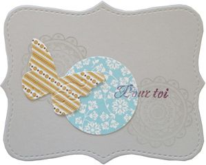 carte au top papillon rond