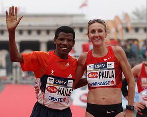 nella foto Gebrselassie e Paula Radcliff