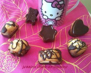 bouchées aux 2 chocolats