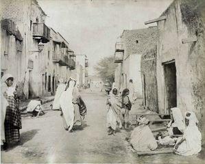 Rue des Ouled Naïl à Biskra, c1880