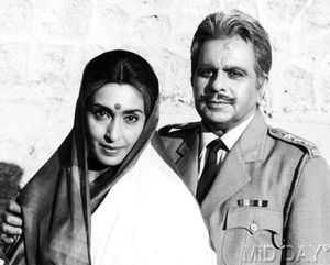 With Dilip Kumar in Karma