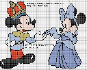 Mickey et Minnie en cendrillon