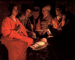 Georges de la Tour Adoration Bergers