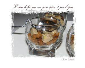 Verrines de poires épicées et pain d'épices (1)