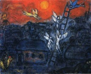 Chagall anges échelle