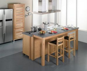 Un lot central dans ma cuisine lf ambiances et d co for Ilot central table leroy merlin