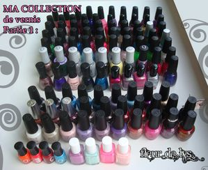 Ma collection de vernis