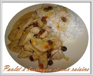 poulet estragon raisins copie