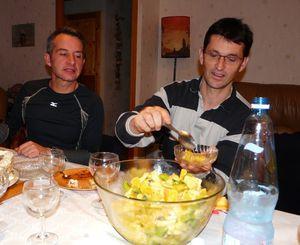 Banqué de fin salade