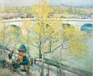 Pont Royal Paris 1897 childe Hassam