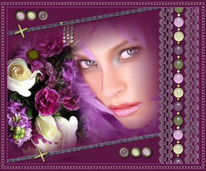 femme fleurs perles
