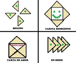 Cuatro triángulos