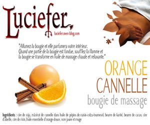 bougie orange cannelle