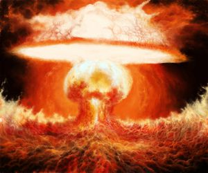 nuclear bomb by Suzumega