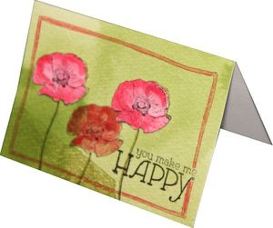 carte design douces esquise happy watercolor