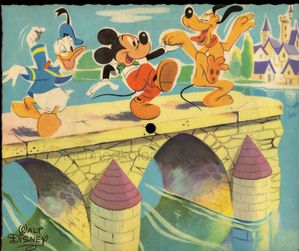 carte postale musicale phonoscope mickey