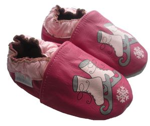 chaussons bebe cuir patins a glace2