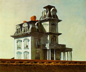 hopper house by railroad 1925