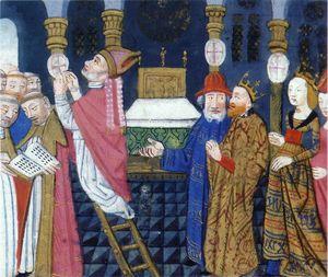 Childebert consacre une basilique