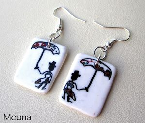 Boucles Singing in the rain DISPONIBLE: 14 euros.