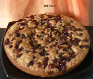 Speculoos fondant aux cramberries