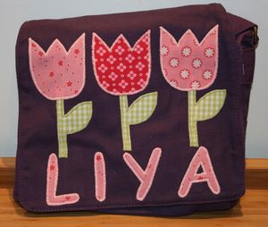 canvas neu tulpen + name lila