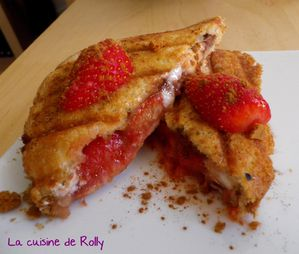 Croque fraise nougat speculoos