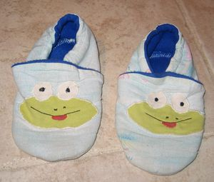 chaussons grenouille