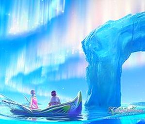 art,boat,celestial,exploring,ice,illustration,kagaya,peace,