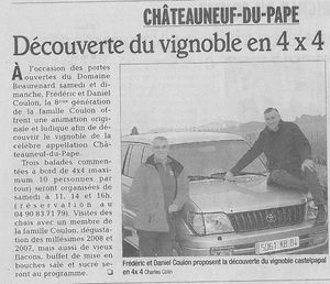 article de presse jpo 2010