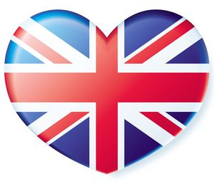 British Flag heart