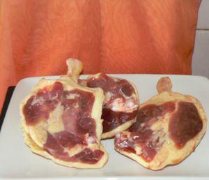 Gâteau de canard aux épinards
