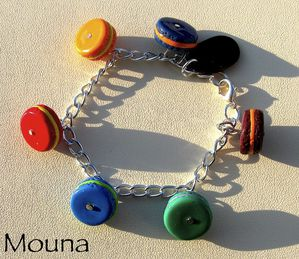 Bracelet Macarons DISPONIBLE: 16 euros.