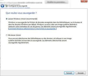 sauvegarder fichier windows