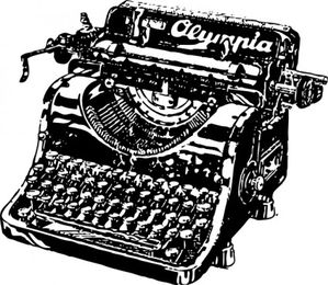 typewriter clip art 12152