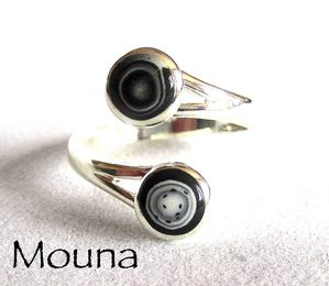 Bague Noir et blanc 4 DISPONIBLE: 15 euros.