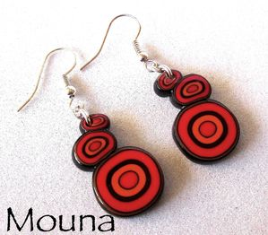 Boucles L'orange rouge 3 DISPONIBLE: 12 euros.