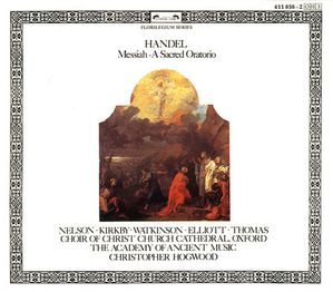 Handel Messiah AAM Christopher Hogwood
