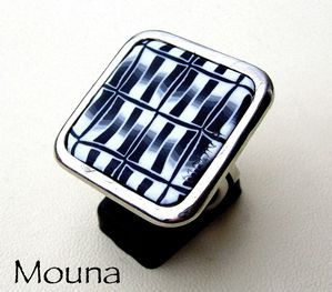 Bague Black and white 4 DISPONIBLE: 15 euros.