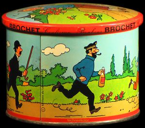Brochet sweets and Editions du Lombard created this metal sweet-box in 1965.