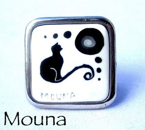 Bague Chat noir 9 DISPONIBLE: 15 euros.